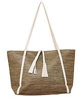 Женская сумка вместительная легкая коричневая (opt-P241/2)