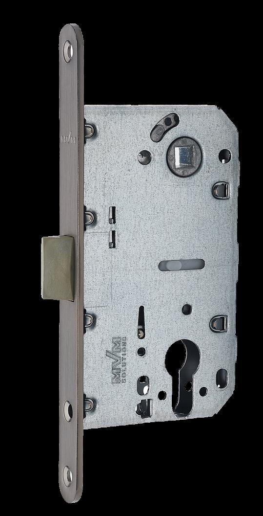 Механізм для дверей під циліндр P-2056C MVM антрацит