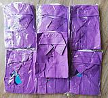 Детская рубашка с длинным рукавом Ярко-фиолетовая размеры 31, фото 2