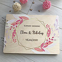 Деревянный альбом для свадебных фотографий, фото 1