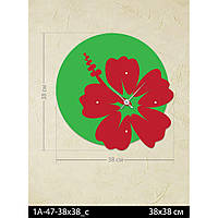 Фигурные дизайнерские акриловые настенные часы IdeaX Цветок 1A-47-38x38_c, 38х38 см