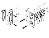 Механізм міжкімнатний під ручку P-100 MVM антрацит, фото 2