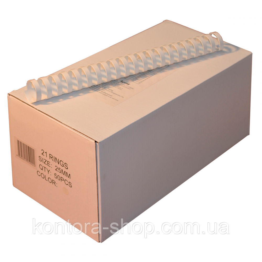 Пружины пластиковые 25 мм белые (50 штук)