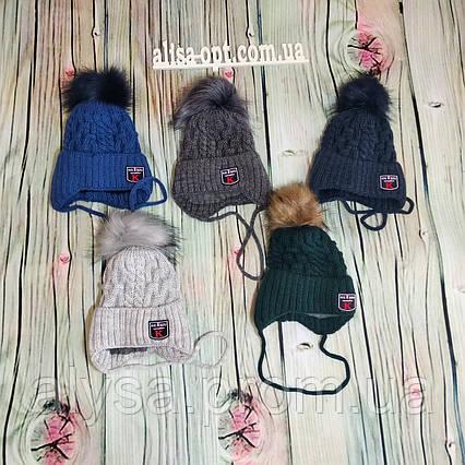 Детская шапка М-017 акрил, подкладка-флис