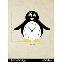 Фигурные дизайнерские акриловые настенные часы IdeaX Пингвин 1A-42-46x38_pr, 46х38 см