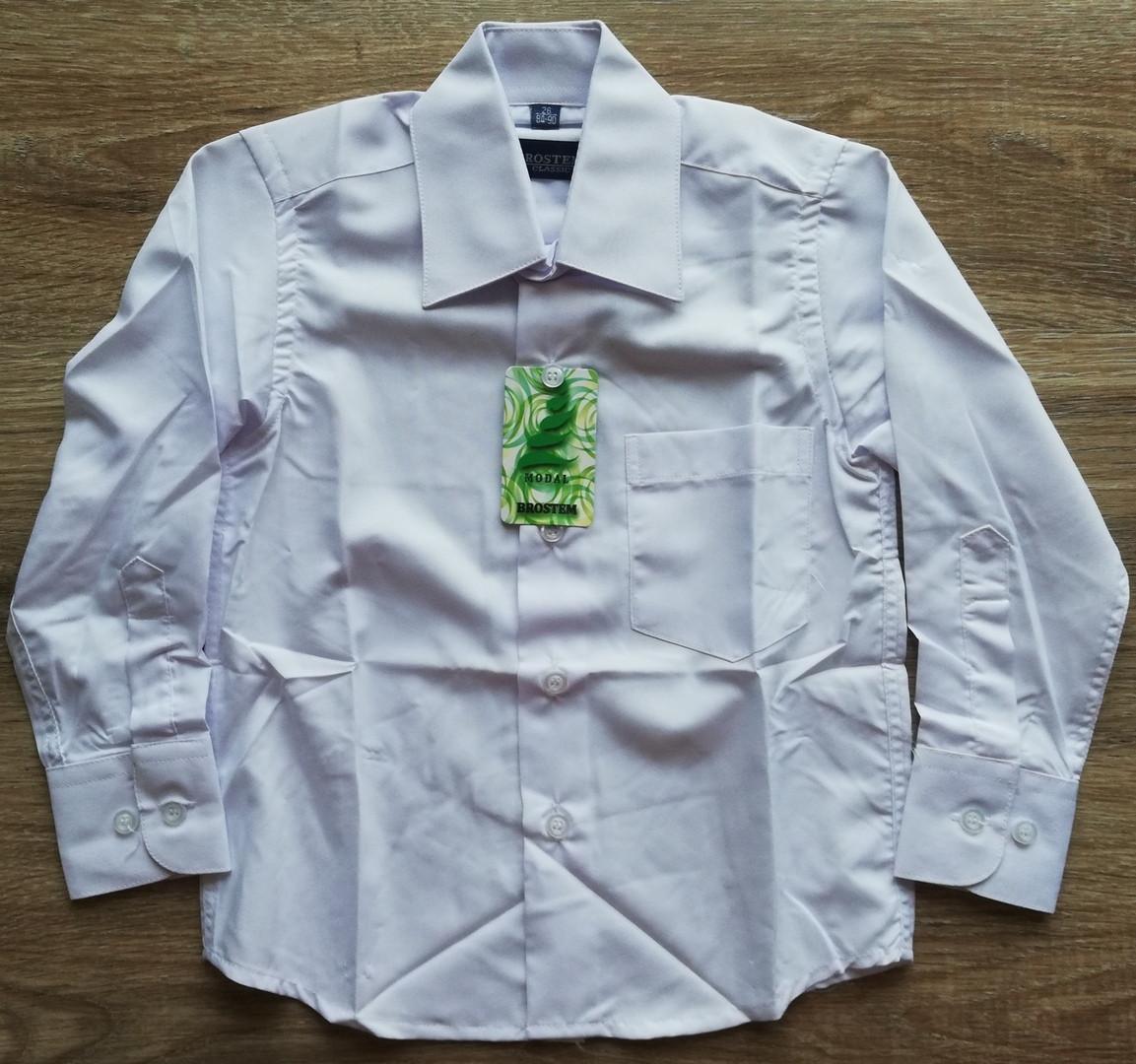 Детская рубашечка с длинным рукавом Белая от роста  74 см до 92 см