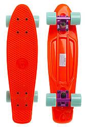 Скейт Пенни борд Penny Board Пенні Борд Fish Skateboards 22.5 Pastel Оранжевый - 57 см пенни борд скейт