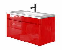 Тумба в ванную JUVENTA Tivoli Tv-100 с умывальником красная