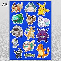 Стикеры Аниме Pokemon без порезки