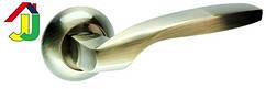 Ручка раздельная Kedr R 10.045 бронза круглое основание, ручка на розетке для межкомнатной двери