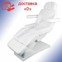 Косметологическое кресло BR-2309 с 3 электромоторами  белого цвета ВИДЕО