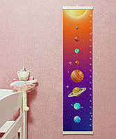 Солнечная система ростомер Ростомер планеты Ростомер для детей Ростомер детский Зростомір шкала Макс рост 140
