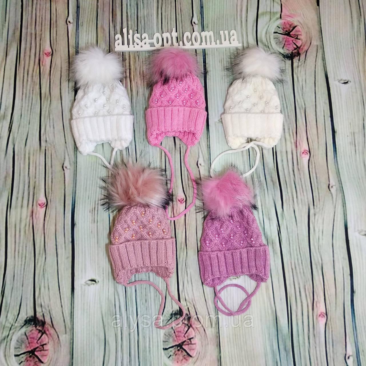 Дитяча шапочка для дівчинки Р-001 акрил, підкладка - фліс