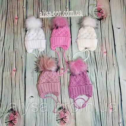 Детская шапка для девочки Г-001 акрил, подкладка - флис