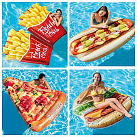 Акция! Матрас надувной &quot,Пицца&quot, &quot,Гамбургер&quot, &quot,Хот-Дог&quot, &quot,ФРИ-картошка&quot,