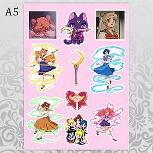 Стикеры Аниме Sailor Moon без порезки