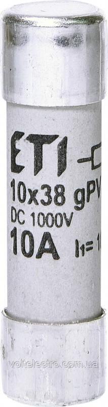 Предохранитель цилиндрический CH10x38 gPV 12A 1000V UL