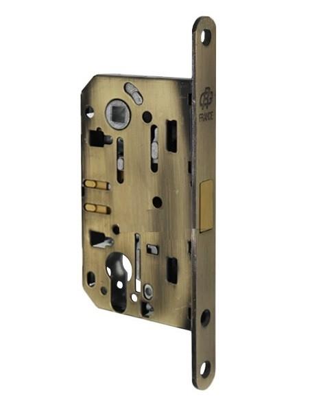 Магнітний механізм для дверей під циліндр Gavroche GR 85М-EC бронза