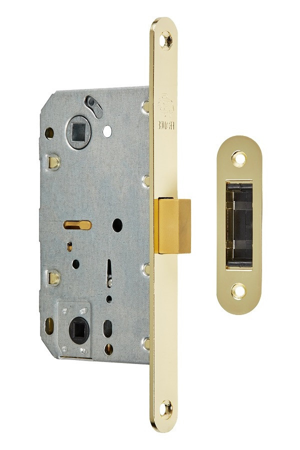 Магнитный механизм для дверей под цилиндр Gavroche GR 96М-EC золото