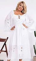 Платье летнее молодежное белое свободное большого размера 881737