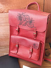 Жіночий рюкзак з натуральної шкіри «DE LUXE»