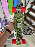 Скейт Penny Board, с широкими колесами Пенни борд, детский , от 5 лет расцветка Листья, фото 5