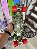 Скейт Penny Board, с широкими колесами Пенни борд, детский , от 5 лет расцветка Листья, фото 7