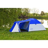 Палатка туристическая трекинговая польская Monsun 4 синяя, четырехместная