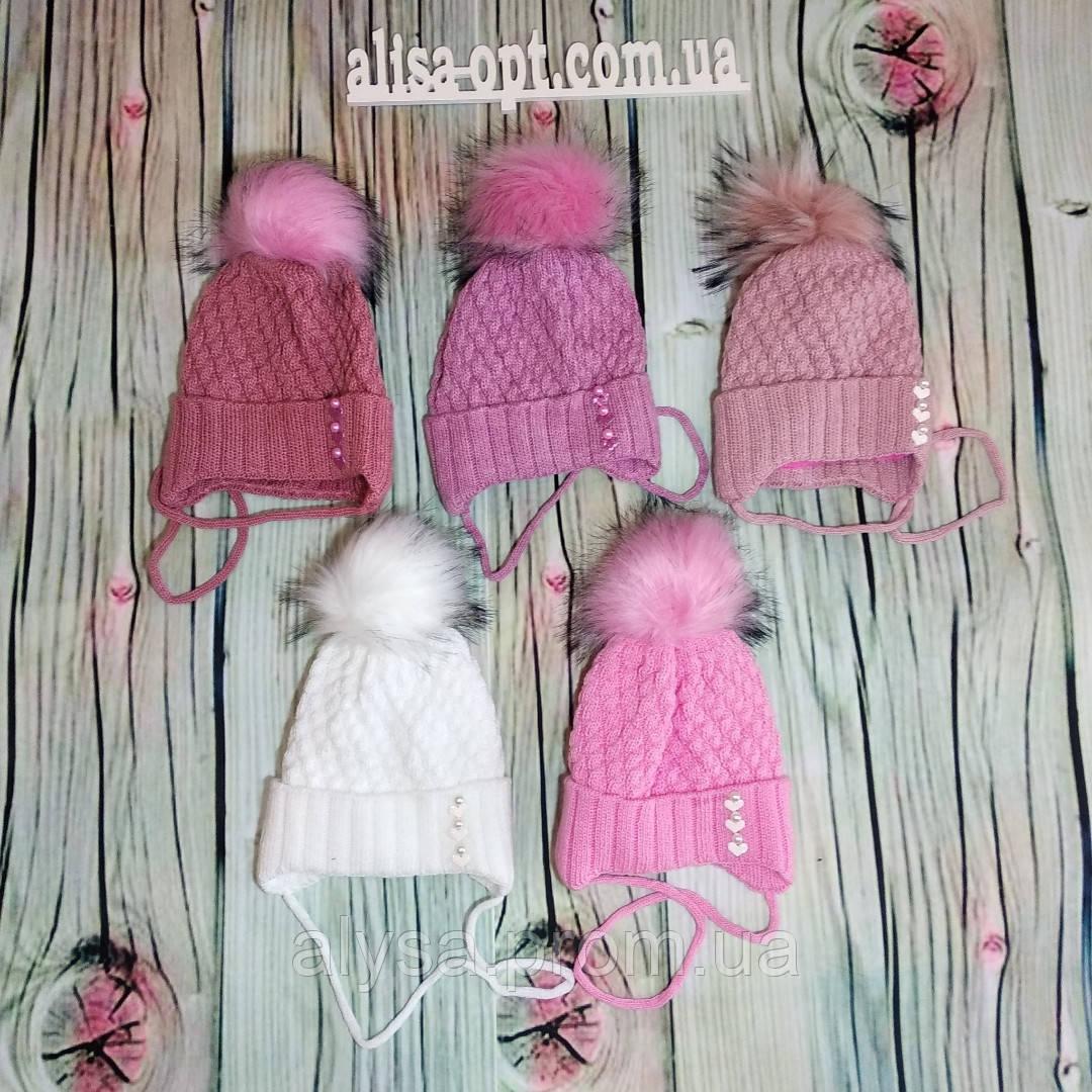 Детская шапка ДМ 014 для девочки акрил, подкладка - флис