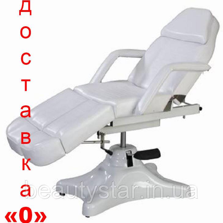 Кресло Кушетка косметологическая гидравлическая для педикюра стационарное 234D белая