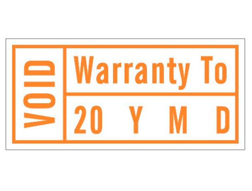Гарантійні стікери Warranty void orange лист 192шт