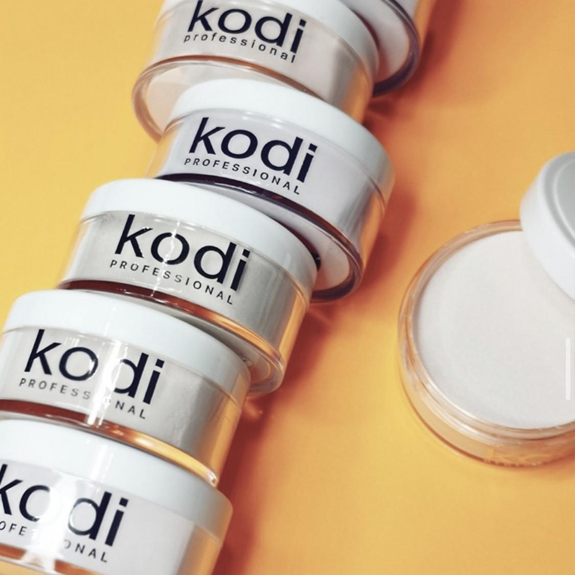 Камуфлирующая акриловая пудра с шиммером Glamour French (22 г) Kodi Professional