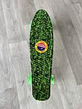 Скейт Penny Board, с широкими светящимися колесами Пенни борд, пенниборд детский , от 4 лет, Камуфляж, фото 6