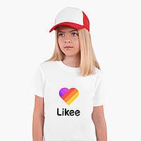 Футболка детская Лайк (Likee) Белый (9224-1041)  Детская 7-8 лет