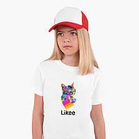 Футболка детская Лайк (Likee) Белый (9224-1040)  Детская 9-10 лет
