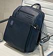 Рюкзак кожаный Piquadro Akron черный на 15л, фото 7