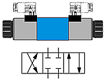 Гидрораспределитель соленоидный электромагнитный Z RH06011 24V Нужен клапан внутрь, фото 2