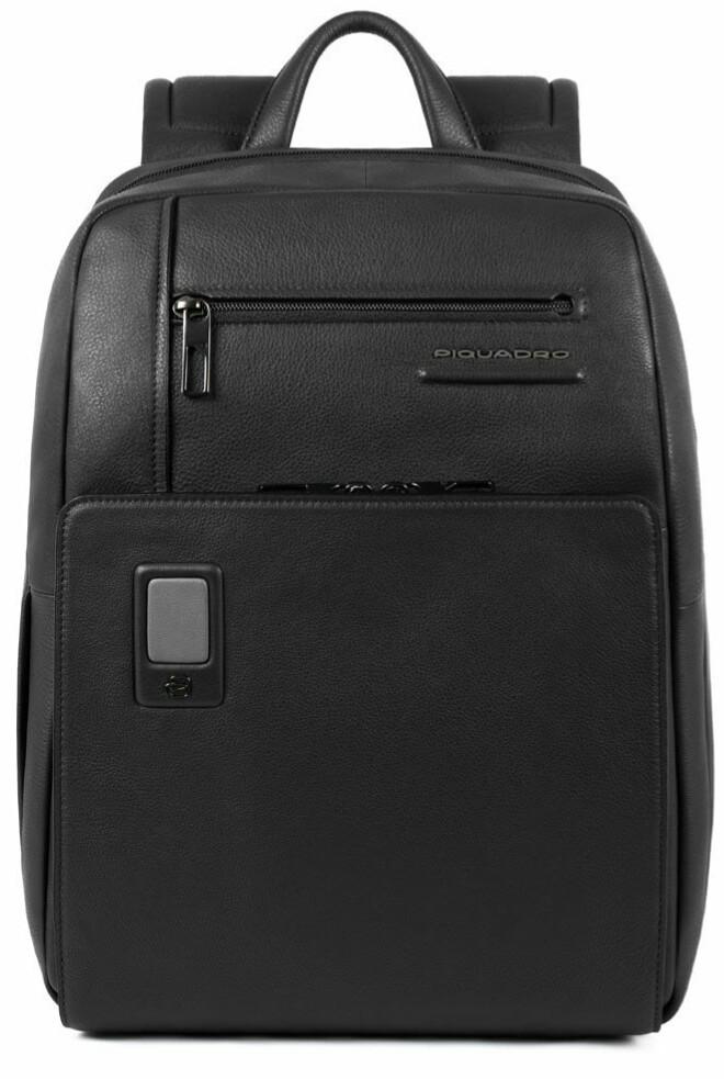 Рюкзак кожаный Piquadro Akron черный на 15л