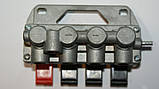 Свич 4 кнопки (2 отверстия) пневматический включатель, фото 5