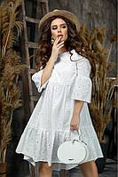 Летнее женское платье из прошвы,белое 42-44,46-48