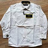 Дитяча сорочка з довгим рукавом Молочна розміри 33-35, фото 2