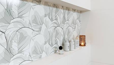 Плитка Opoczno /Flower Cemento White Inserto  24x74, фото 2