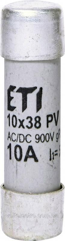 Запобіжник циліндричний CH10x38 gR 20A/900V AC/DC