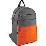 Рюкзак GoPack Сity 118-3 серый, оранжевый |44622, фото 2