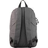 Рюкзак GoPack Сity 118-3 серый, оранжевый |44622, фото 3