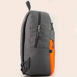 Рюкзак GoPack Сity 118-3 серый, оранжевый |44622, фото 5