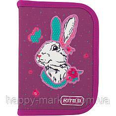 Пенал без наполнения Kite Education Bunny 1 отделение 2 отворота K20-622-5