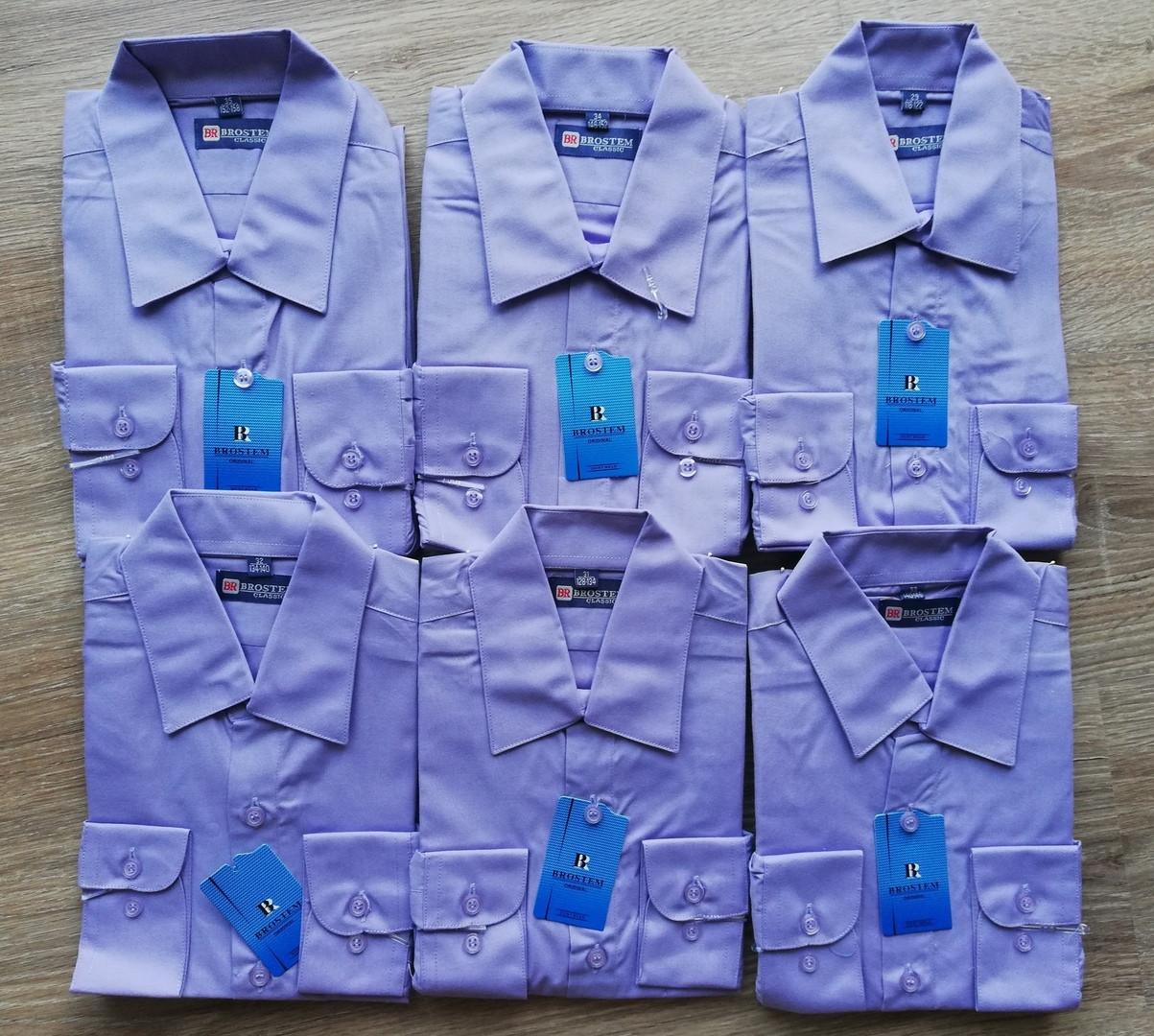 Детская рубашка с длинным рукавом Фиолетовая 152-158 см