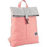 Рюкзак GoPack Сity 155-3 серо-розовый  44654, фото 2