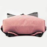 Рюкзак GoPack Сity 155-3 серо-розовый  44654, фото 3